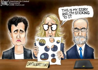 A.F. Branco Cartoon – Holey Testimony!