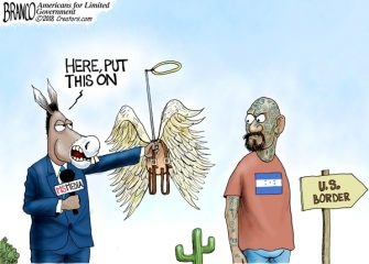 A.F. Branco Cartoon – Angels in Disguise