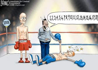 A.F. Branco Cartoon – Down For The Count