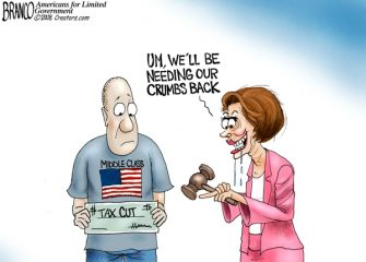 A.F. Branco Cartoon –  High Tax Nancy