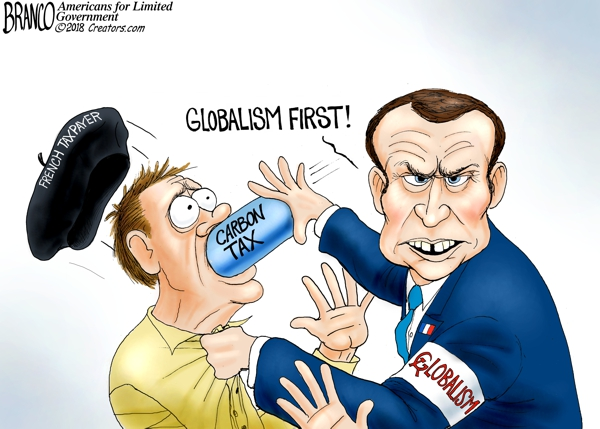 Globalist Macron Carbon Tax