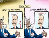 A.F. Branco Cartoon – Bush Derangement Syndrome