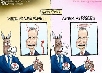 A.F. Branco Cartoon – Bush Derangement Syndrome