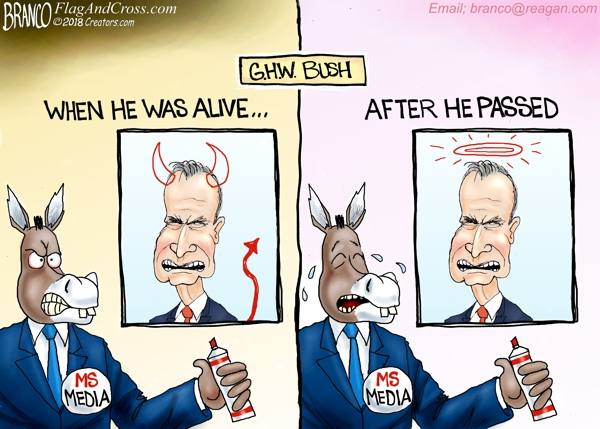Mainstream Media Remembers Bush