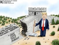 A.F. Branco Cartoon – The Great China Trade Barrier