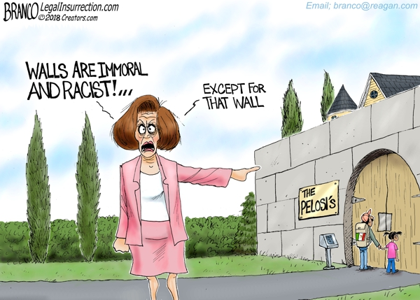Pelosi Says Walls Racist and Immoral