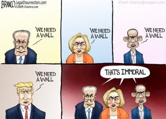 A.F. Branco Cartoon – The Wall, Then and Now