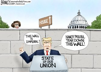 A.F. Branco Cartoon – Nancy's Wall