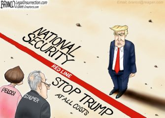 A.F. Branco Cartoon – American Standoff