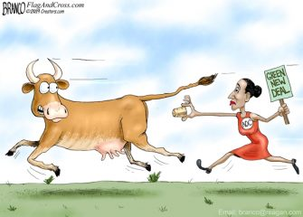 A.F. Branco Cartoon – Chasing A Dream