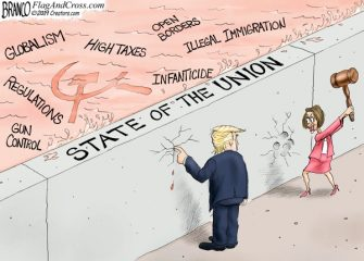 A.F. Branco Cartoon – Union At Stake