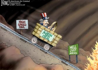 A.F. Branco Cartoon – Being Railroaded