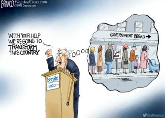 A.F. Branco Cartoon – Feel the Bern, Again