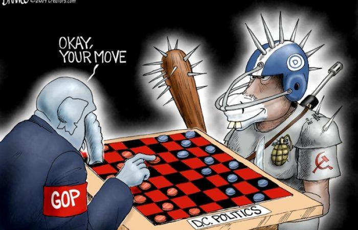 A.F. Branco Cartoon – No Rules For Radicals