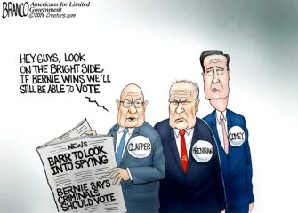 A.F. Branco Cartoon – Bernie Voters