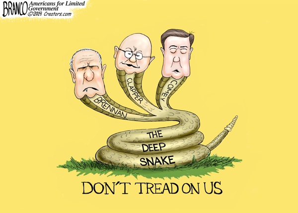 Deep State Brennan, Clapper, and Comey