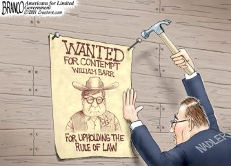 A.F. Branco Cartoon – Raising the Barr