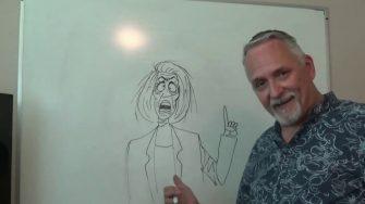 A.F. Branco Draws Nervous (Crazy) Nancy