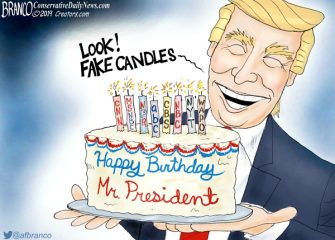 A.F. Branco Cartoon – Happy Birthday Mr. President