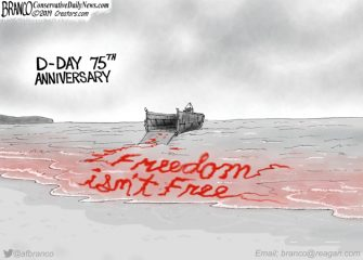 A.F. Branco Cartoon – D-Day 75th Anniversary