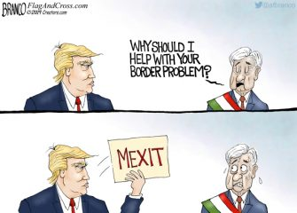 A.F. Branco Cartoon – Tariff Man