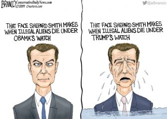 A.F. Branco Cartoon – Two Faced