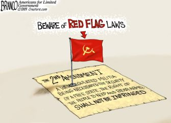 A.F. Branco Cartoon – Seeing Red