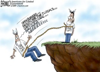 A.F. Branco Cartoon – Free Falling