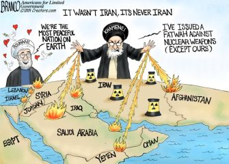 A.F. Branco Cartoon – It's Never Iran