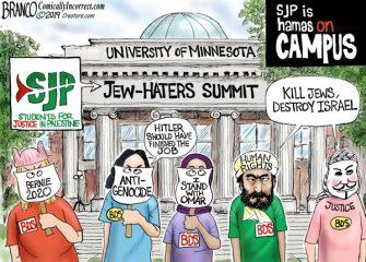 A.F. Branco Cartoon – Hamas On Campus