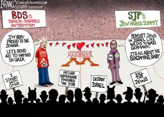 A.F. Branco Cartoon – SJP University of Minnesota Hate Summit
