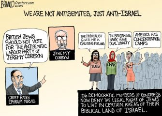 A.F. Branco Cartoon – Antisemitic Democrats