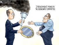 A.F. Branco Cartoon – Passing of the Hoax