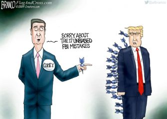 A.F. Branco Cartoon – Unfriendly Fire