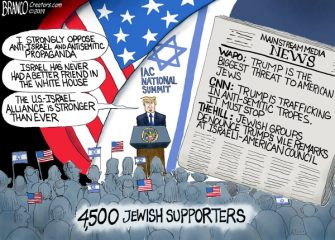 A.F. Branco Cartoon – Trump Antisemitic?