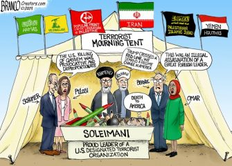 A.F. Branco Cartoon – Mourning Soleimani