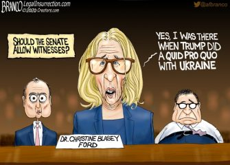 A.F. Branco Cartoon –  Believe All Witness