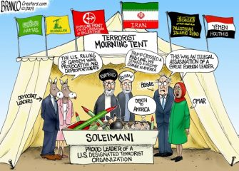 A.F. Branco Cartoon – Mourning Qasenm Soleimani