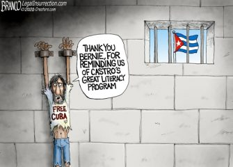A.F. Branco Cartoon – Reading, Writing, and Tyranny