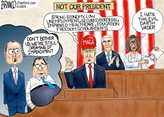 A.F. Branco Cartoon – Trump Derangement Syndrome