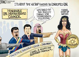 A.F. Branco Cartoon – U.N. Human Rights Sham