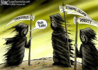 A.F. Branco Cartoon – 3 Horsemen of the Pandemic