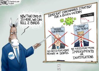 A.F. Branco Cartoon – Democrat COVID-19 Strategy