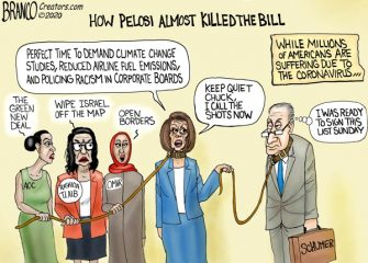 A.F. Branco Cartoon – The Pelosi Doesn't CARE Act