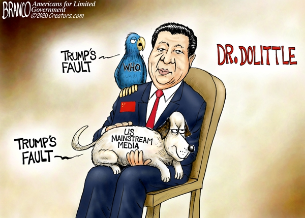 W.H.O. and Mainstream Media with China