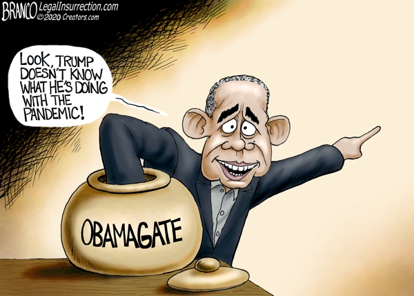 Corrupt Obama points finger at Trump