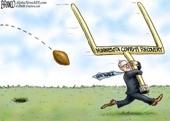 A.F. Branco Cartoon – Moving the Goalpost in Minnesota