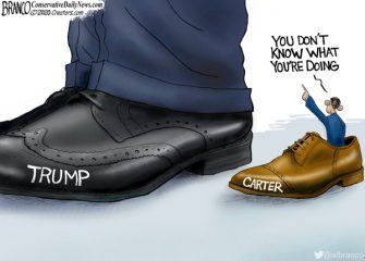A.F. Branco Cartoon – Yuge Shoes to Fill