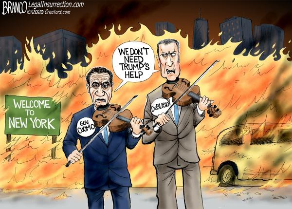 Cuomo and DeBlasio Fiddle