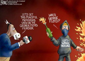 A.F. Branco Cartoon – Mostly Peaceful Riots